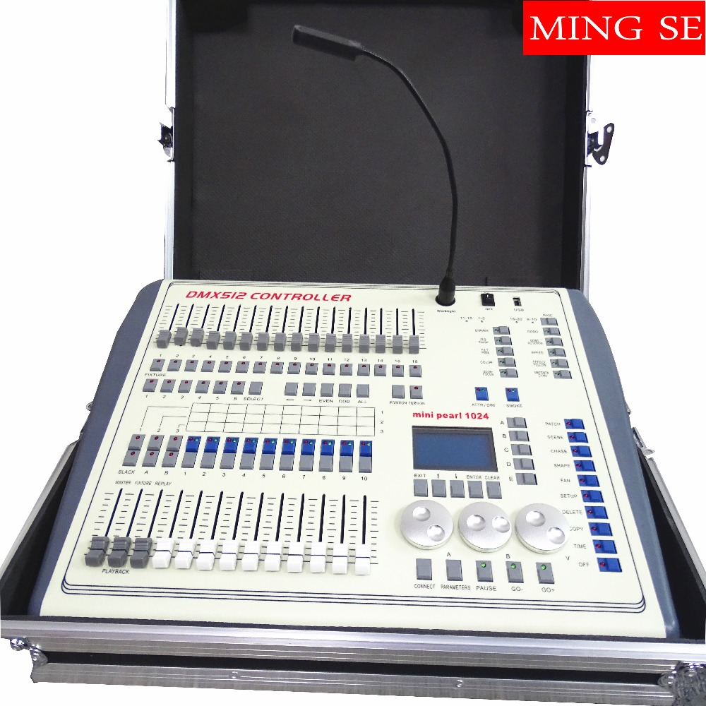 Mini Pearl 1024 DMX Controller For Led Moving Light DMX Lighting Controller With FASE,WAVE DMX Controller Pearl 1024 Box