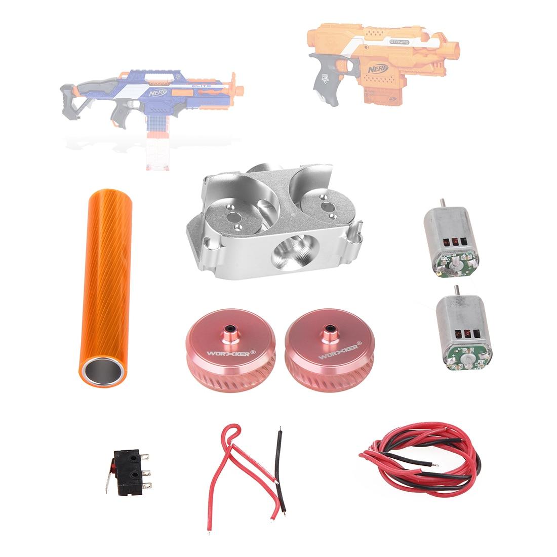 Worker Twill Metal Power Type Flywheel Set For Nerf N-Strike Elite Stryfe Blaster N-Strike Elite Rapidstrike CS-18 Blaster