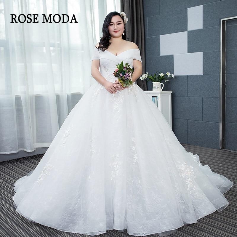 Wedding Dress 2019 Off Shoulder Sleeves