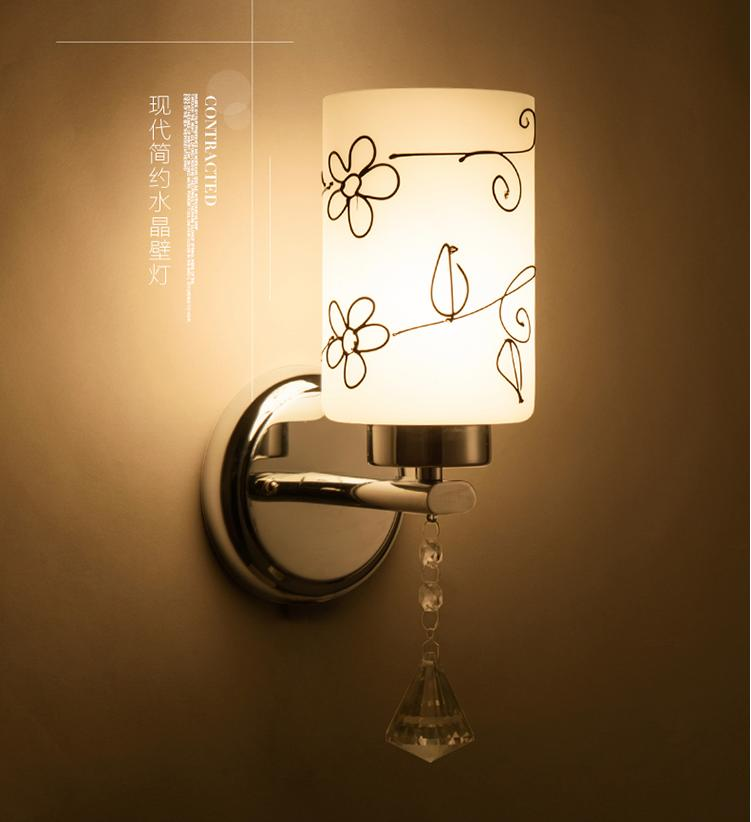 Chinese Type Study Wall Lights LED Simple Bedside Lamp Creative Living Room Lamps Single Head