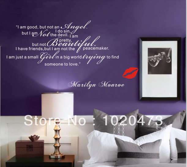 Aliexpress Buy Marilyn Monroe Somet Loveremovable Diy Wall Bedroom Designs