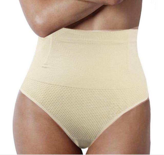 4d230f0c6 Sexy Thong High Waist Control Panties Women Waist Corsets Cincher Body  Shaper Ladies Butt Lifter Waist Trainer Lingerie