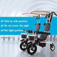 Dobe брендовые Детские Двойные близнецы трехколесный велосипед двойные сиденья детский трехколесный велосипед семейная версия