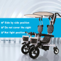 Dobe brand  child baby double twins tricycle bike bicycle double seats baby tricycle family version