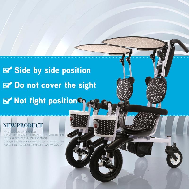 Dobe marca bambino bambino doppio twins triciclo bici doppi sedili bambino triciclo famiglia versione