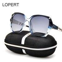 LOPERT Fashion Polarized Sunglasses Women Luxury Brand Designer Glasses Driving Mirror Sun Glasses Oculos De Sol