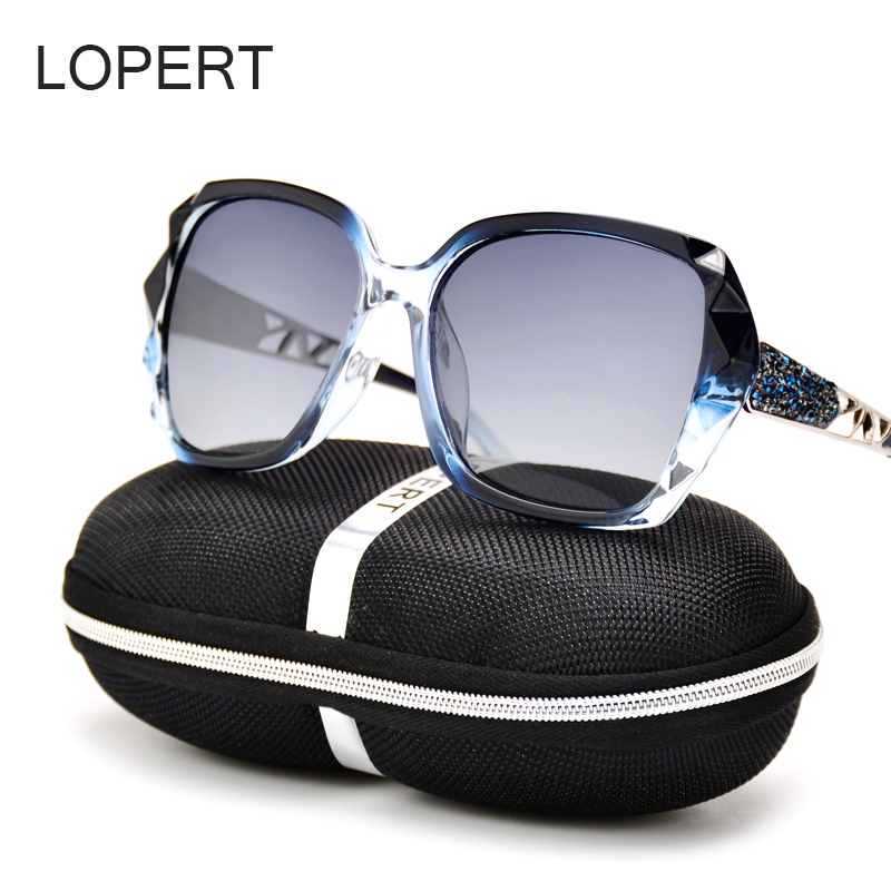 LOPERT Fashion Polarized Sunglasses Women Luxury Brand Designer Glasses Driving Mirror Sun Glasses Oculos De Sol