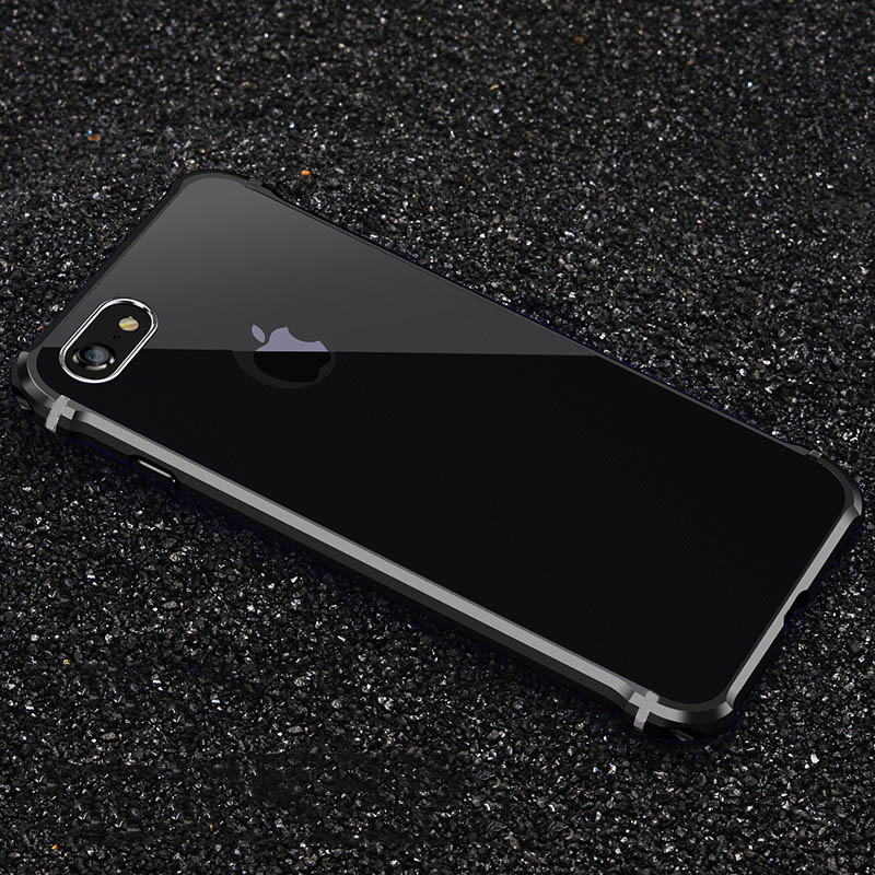 Untuk Apple iPhone 7 Kasus Merek Mewah Keras Glitter Logam Aluminium - Aksesori dan suku cadang ponsel - Foto 3