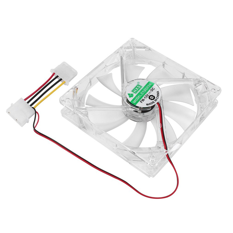 CPU Cooler Fan Five Colors Light PC Computer Fan Quad 4 LED Light 120mm PC Computer Case Cooling Fan Mod Quiet Molex Connector gdstime 10 pcs dc 12v 14025 pc case cooling fan 140mm x 25mm 14cm 2 wire 2pin connector computer 140x140x25mm