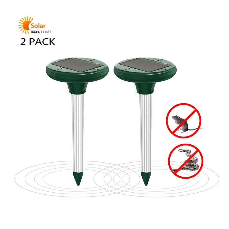 1/2pcs Solar Powered Ultrasonic Snake Repeller Sonic Mole Vole Snake Mouse Rodent Garden Yard Pest Contorl Mosquito Repeller