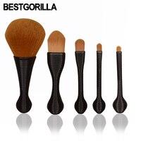 BESTGORILLA Neue 5 teile/satz Lollipop Stil Make-Up Pinsel Gesicht Nackt Erröten Makeup Blending Textmarker Pinsel Pinceis Maquiagem
