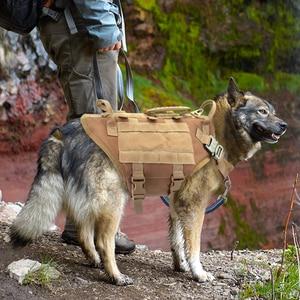 Image 2 - Taktyczne szelki nylonowe dla psa wojskowe K9 pracy kamizelka dla psa nie ciągnąć treningowe dla zwierząt domowych kamizelka myśliwska dla średnich i dużych psów owczarek niemiecki