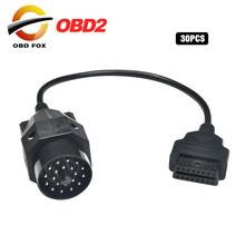 Connecteur pour bmw 20 broches vers obd2 16 broches mâle pour sprinter 14 broches vers Nissan 14 broches pour GM 12 broches obd ii 16 broches femelle 30 pièces/lot