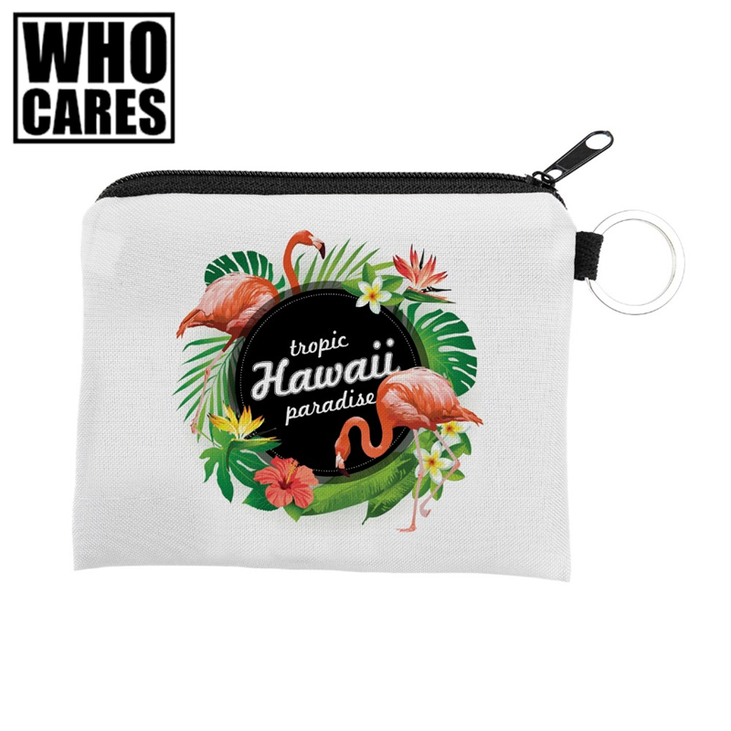 Flamingo Mini Square Wallet Who Cares 2017 Brand Fashion Prints Women Purse Holder Small Zipper Coin Purse Female Money Bags flamingo beach mini square wallet 2017 who cares fashion prints women purse holder small zipper coin purse female money bags