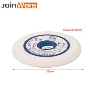 Image 2 - 150mm branco corindo cerâmica rebolo 46 60 80 # para metalurgia hss alta aço carbono 32mm abertura 10mm espessura