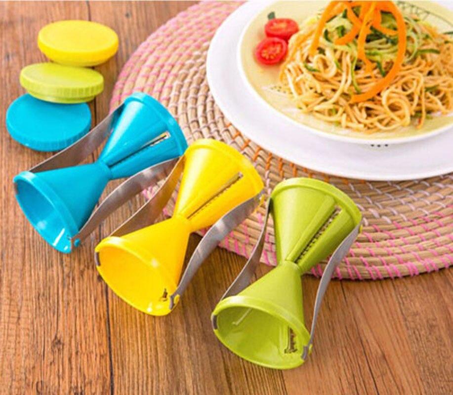 ... Vegetable Fruit Spiral Slicer Spirelli Graters Carrots Spiralizer  Julienne Cutter Peeler Kitchen Gadgets ...