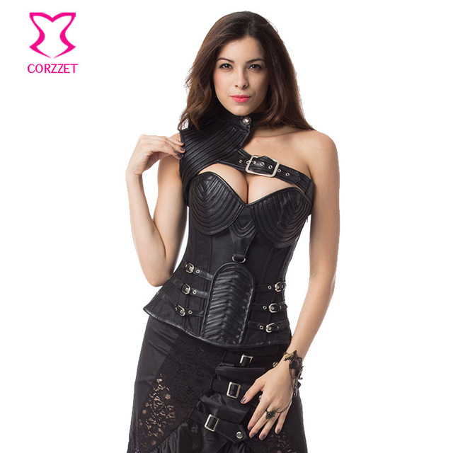 faf704e08 S-6XL Vintage Gothic Clothing Plus Size Black Armor Corselet Corset  Burlesque Steampunk Corsets And Bustiers Korsett For Women - Steampunk  Allure