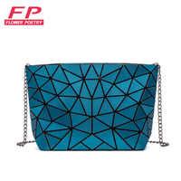 Fashion Women Chain Shoulder Bag Luminous sac Bao Bag For Girl Geometry Messenger Bags Plain Folding Crossbody Bags Clutch bolso