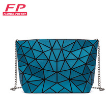 Bag Messenger-Bags Chain-Shoulder-Bag Clutch-Bolso Geometry Plain Bao Luminous Fashion Women