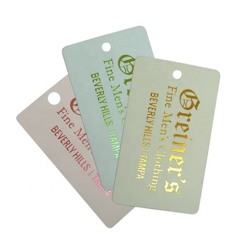 Customize Earrings hang tag Card With Logo