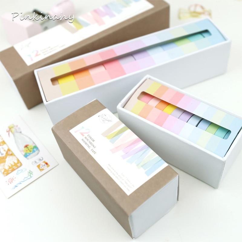 12pcs//set Decorative washi paper tape Diary Album scrapbook stickers Tape 3M