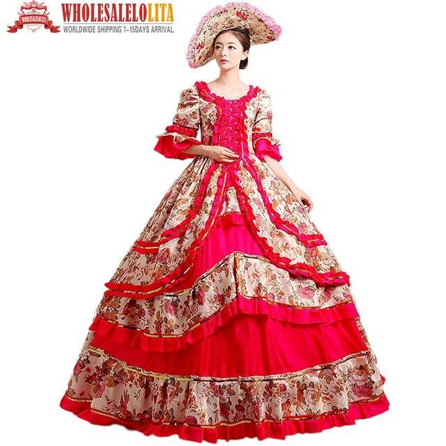 Frauen prom viktorianischen phantasie maskerade kleider brokat ...