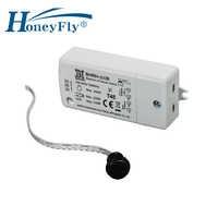 HoneyFly IR Sensor Switch 500W 100-240V (Max.100W For LEDs) Infrared Light Switch Motion Sensor Intelligent Auto On/off 5-10CM