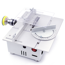 Mini Table Saw Cutter Handmade Woodworking Grinding Polishing Bench Saw DIY Model Cutting Saw Machinery Tool Metal Frame(China)