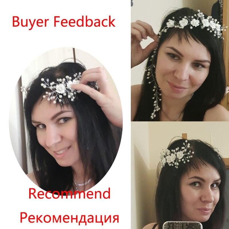 Pearl Flower Hairband საქორწილო - მოდის სამკაულები - ფოტო 2