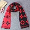 Зимний шарф для женщин 2016 теплый шарфы Винтажном Стиле Цветок вышитые Женщин Шарфы Негабаритных Шарфы Дамы Открытый