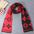Winter scarf for women 2016 warm scarves Vintage Style Flower embroidered Women Scarfs Oversized Scarves Ladies Outdoor