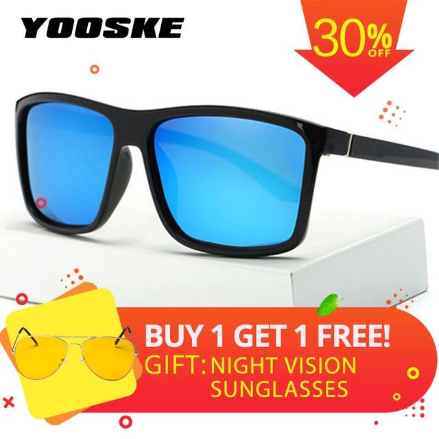 714743300d3 YOOSKE Brand Mens Polarized Sunglasses Special Driving Driver Sun glasses  Women Vintage Rectangle Anti-UV