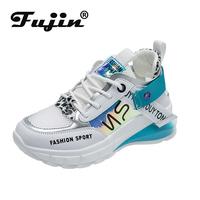Fujin Women Sneaker New Style Single Shoes Low upper Fashionable Students Leisure Sports Shoes All Pairs of Non skid Breathable