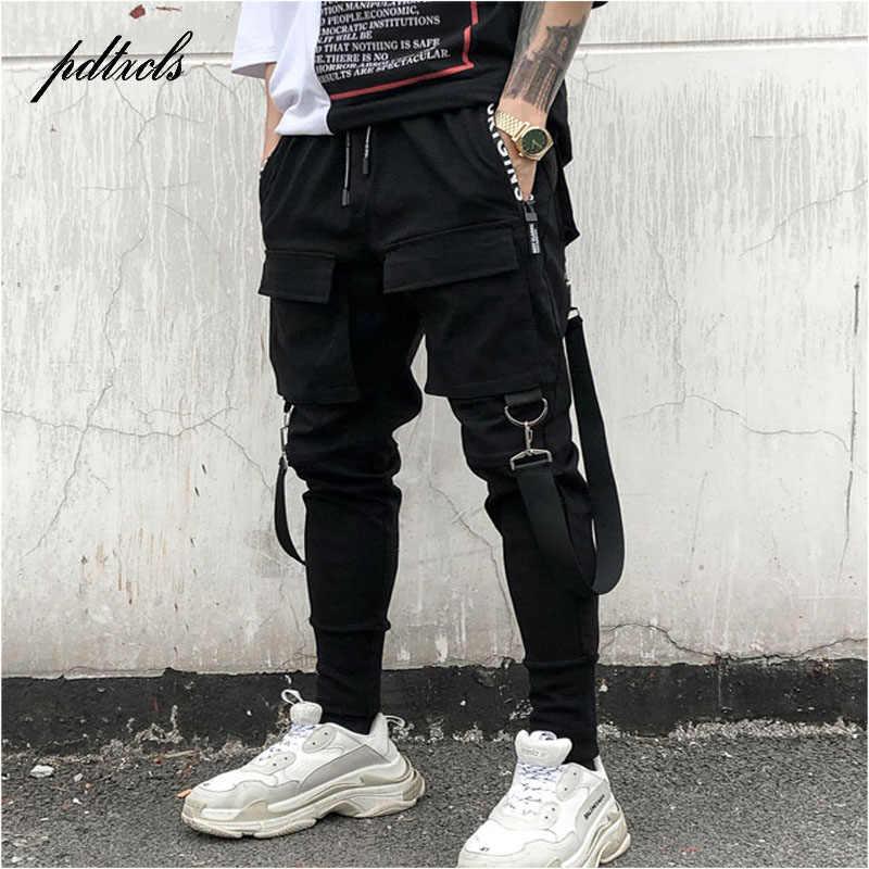 a61b9f2f7d4 49Hot боковые карманы карандаш брюки мужские хип-хоп пэчворк карго рваные  тренировочные брюки джоггеры брюки