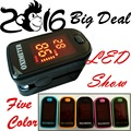 2017 big deal!! 5 Color LED Display~~~Fingertip Pulse Oximeter Spo2  PR monitor  Blood Oxygen meter Monitor