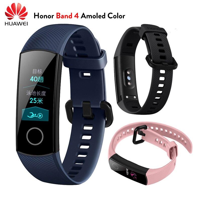 En Stock Original Huawei Honor Band 4 pulsera inteligente Amoled Color 0,95