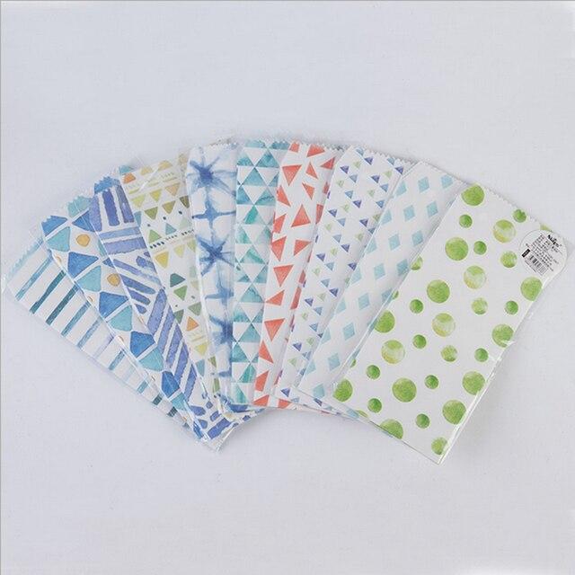 5pcs Lot Kawaii Blue Summer Envelopes Small Envelope Writing Paper Stationery Birthday Christmas Card