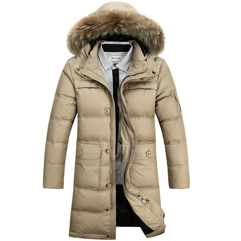 Winter Jacket Men 90% White Duck Down Long Jackets Keep Warm Coat Casual Mens thick Down Overcoat parka homme Brand New