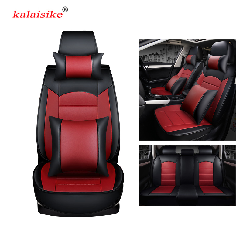 kalaisike leather universal car seat covers for Dodge all models Avenger Charger Dart RAM car styling auto accessories
