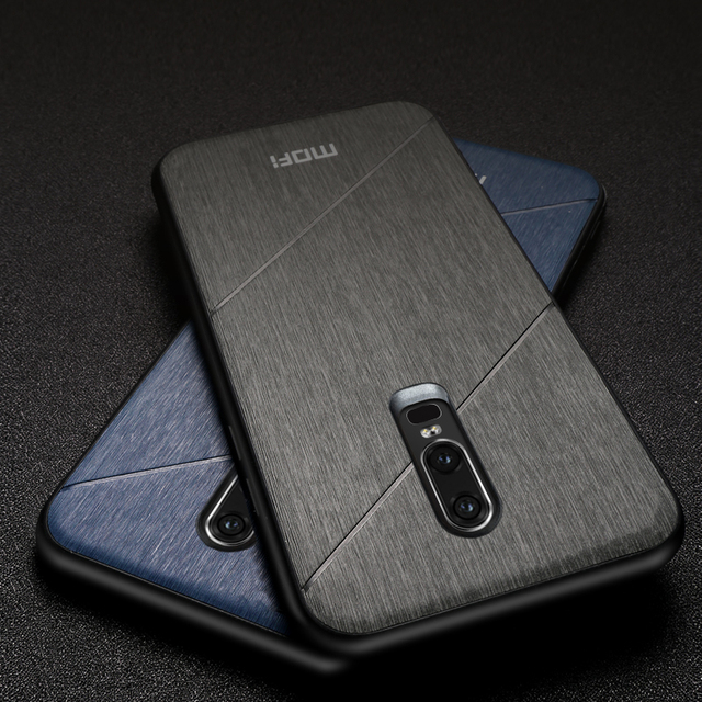 MOFi OnePlus 6 Luxury Business Style Shockproof Back Case Cover