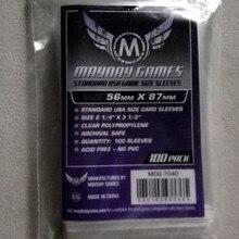 2 упаковки/лот Mayday карточная игра рукав для 56*87 мм карты протектор BANG MUNCHKIN Чехол-рукав для настольной игры 7040