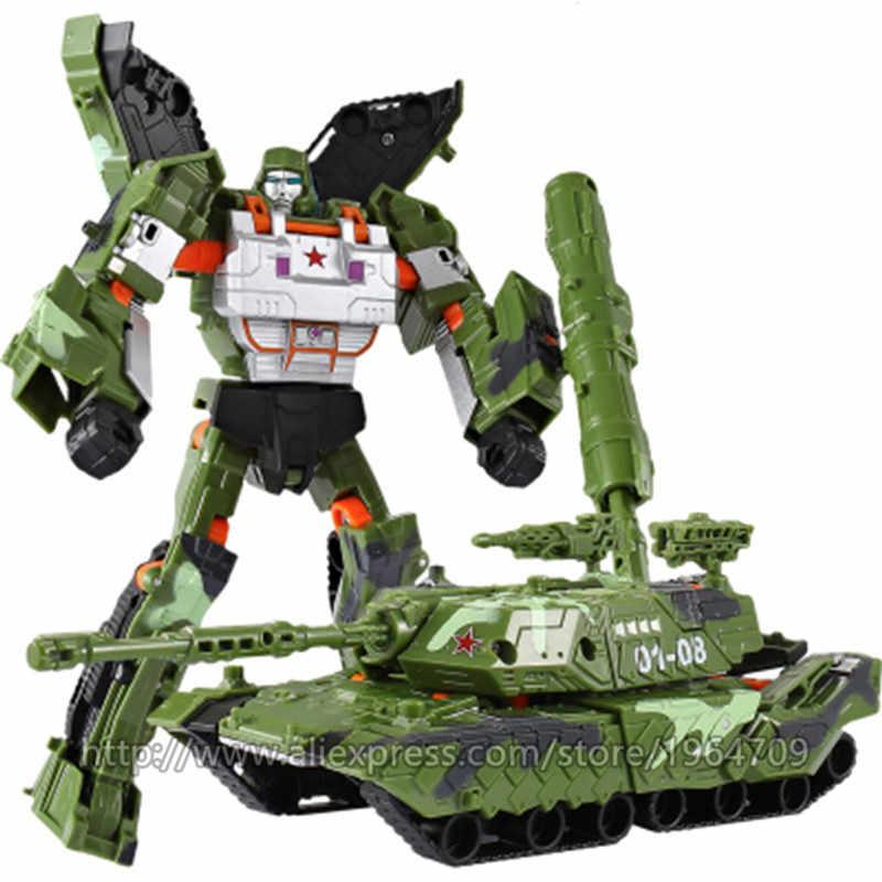 WEI JIANG YENI Anime Dönüşüm 5 aksiyon figürü oyuncakları Robot Araba Tankı Modeli Klasik Serin juguetes Modeli Çocuk Oyuncak Dinozor Hediyeler
