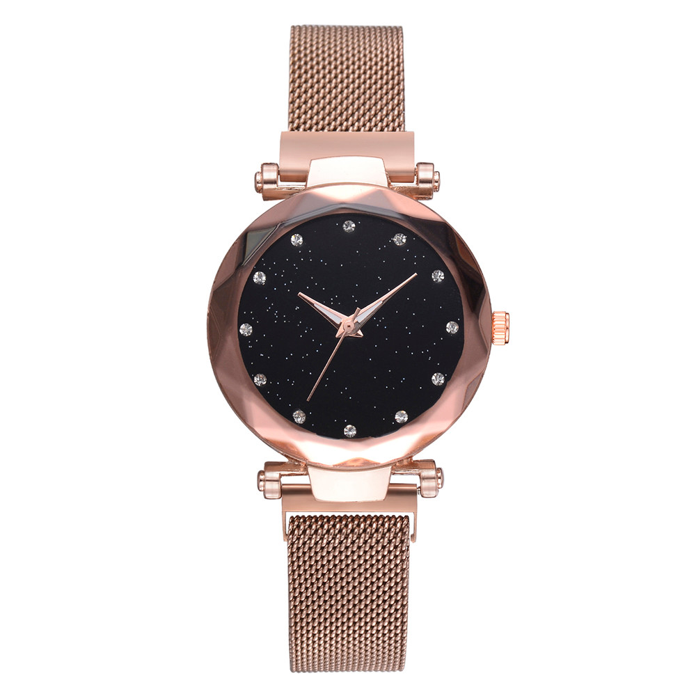 Bracelet Watches Starry-Sky Quartz Stainless-Steel Female Femme Women Luxury Mesh Fashion