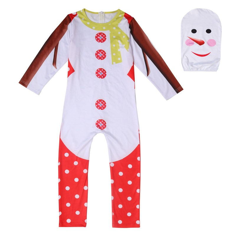 kid adult red santa zentai suit child children Christmas  clothes the snowman party Halloween cosplay Costume mask suit