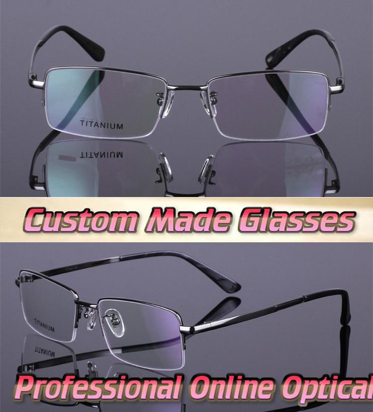 super light titanium metal frame optical custom made optical lenses reading glasses 1 15
