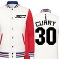 Primavera 2016 nueva chaqueta ocasional de moda marca boss Warriors Stephen Curry hombres grandes del tamaño ropa para hombre chaqueta de tweed chaqueta de lujo