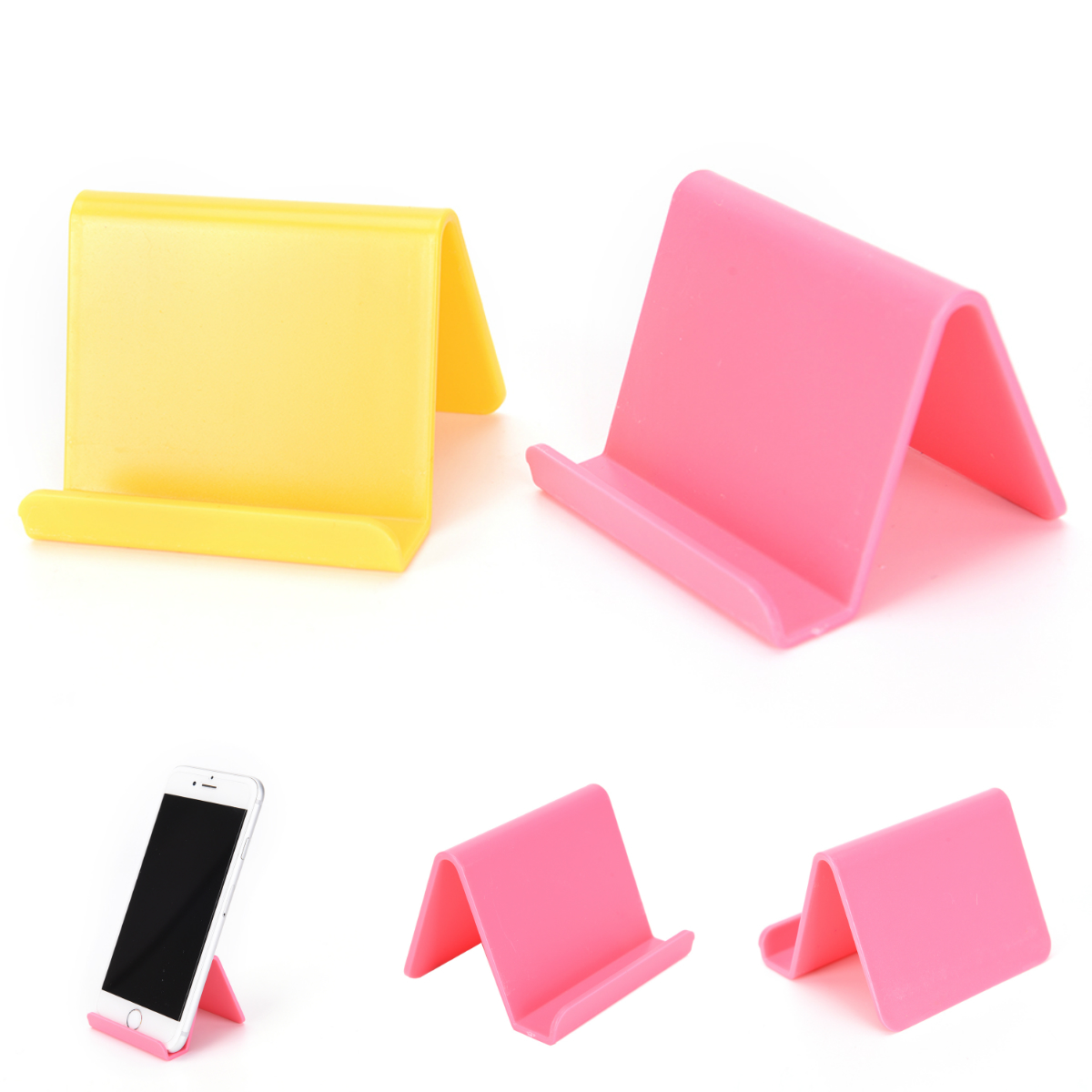 Universal Desktop Cell Mobile Phone Stand Candy Color Support For Smartphone Tablet Flexible Folding Desk Bracket Holder