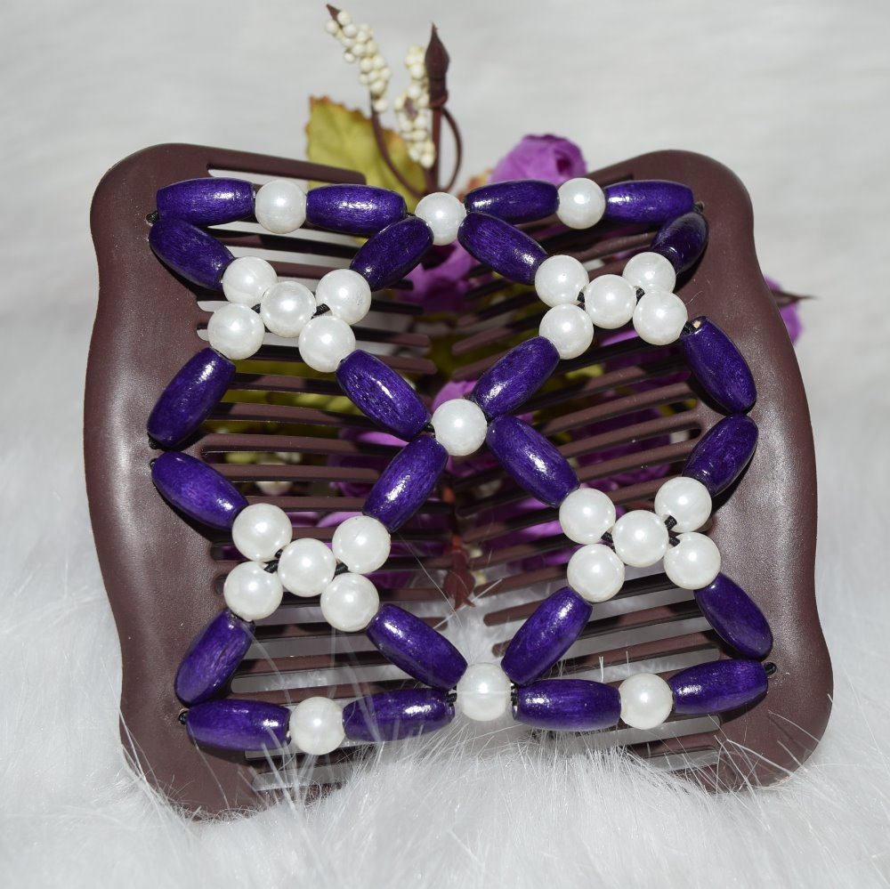 Dark purple Pearl flower beads Burgundy beads comb 20pcs/lot professional work lady hair accessory