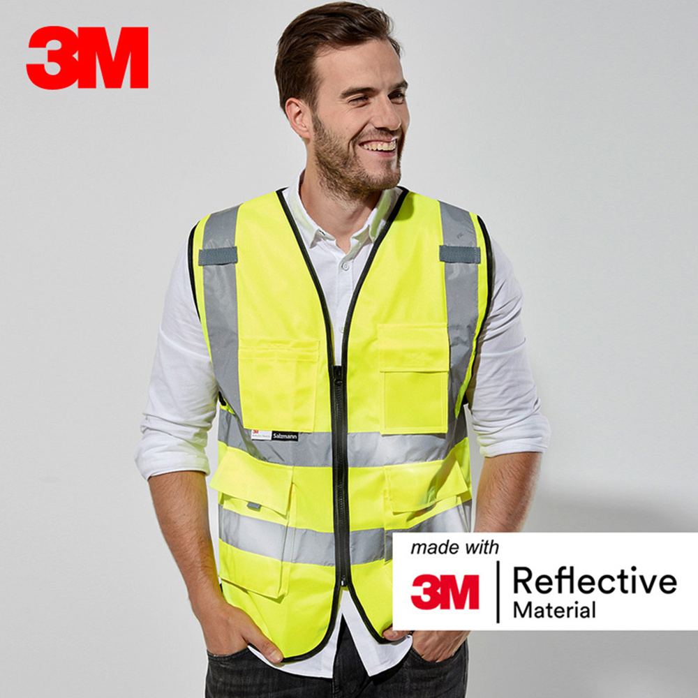 3M 10907 Reflective Vest Car Annual Inspection Safety Clothing Road Construction Night Traffic Riding Fluorescent Vest цена