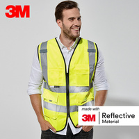 3M 10907 Reflective Vest Car Annual Inspection Safety Clothing Road Construction Night Traffic Riding Fluorescent Vest